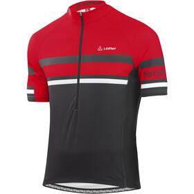 Löffler hotBOND RF Fietsshirt Halve Rits Heren, black/red